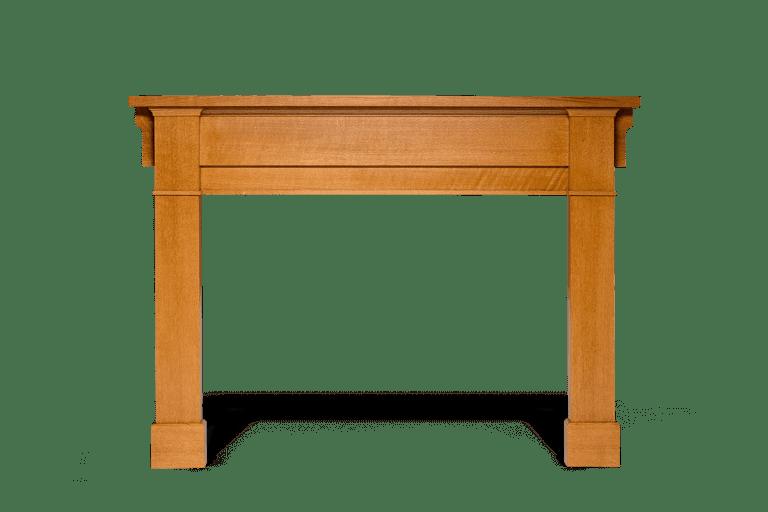 image of mission styled rift oak mantel